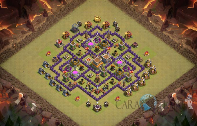 Base War TH 8 di Clash Of Clans Terbaru 2017 Tipe 10