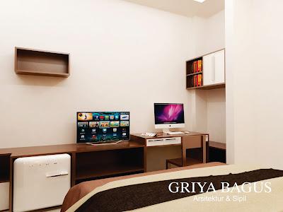 Desain Interior 3D Kamar Kos Jakarta Kamar C Hadap Samping View 2
