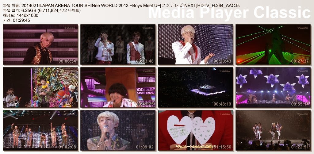 [Show] 140214 JAPAN ARENA TOUR SHINee WORLD 2013 ~Boys Meet U~