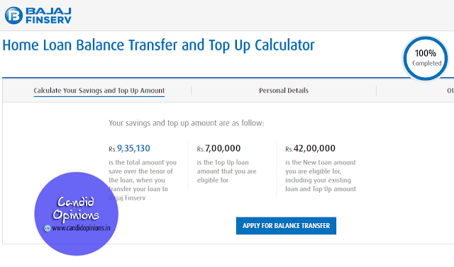 Calculate your savings and Top up amount