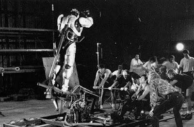 Rodaje efectos especiales Robocop - 1987