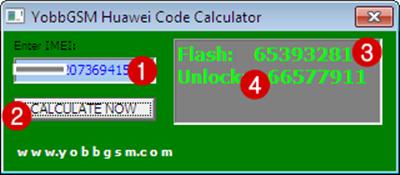 Télécharger YobbGSM Huawei Code Calculator