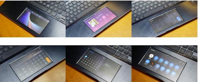 Screenpad pada touchpad yang multifungsi
