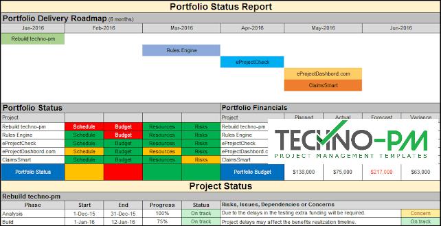Project Portfolio Reporting, Portfolio Status Report Template,portfolio report