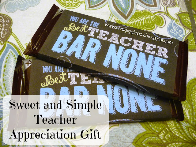 teacher appreciation gift, teacher candy bar printable gift, printables, simple teacher gift,