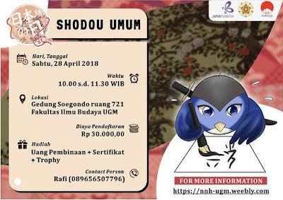 Lomba Menulis Huruf Indah Jepang Shodou Umum 2018 UGM
