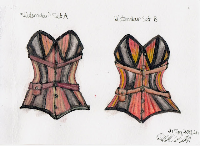 Corset Study: Watercolour comparison by NekoMarik on deviantART
