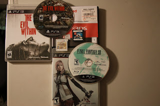 Group shot of Final Fantasy XIII, The Evil Within for Ps3, Lego Harry Potter years 1-4 and Code of Princess for 3DS