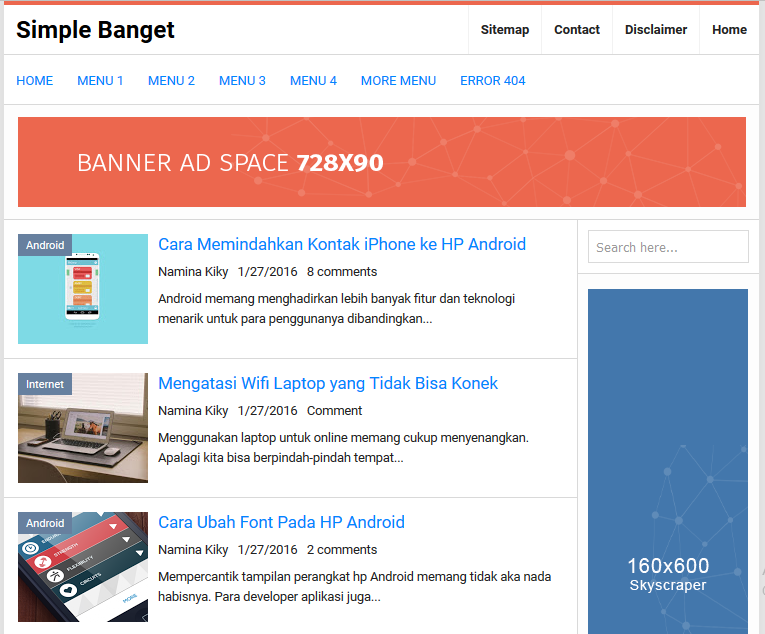 Simple Banget High CTR Responsive Blogger Template