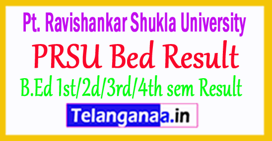 Raipur University PRSU Bed Result 2018
