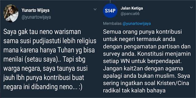 Kader Demokrat Skakmat & Ultimatum Yunarto yang Lecehkan Kehormatan Neno Warisman