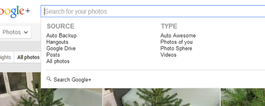 Google+ Photo Search Filters