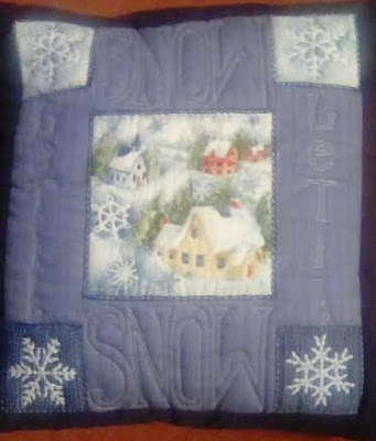Christmas quilted cushion