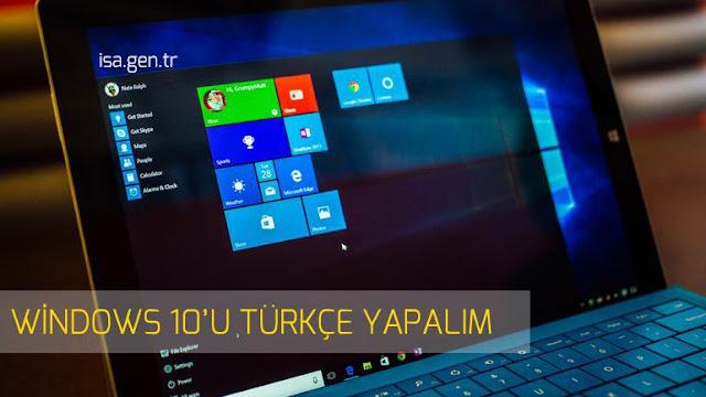 windows 10 türkçe dil paketi