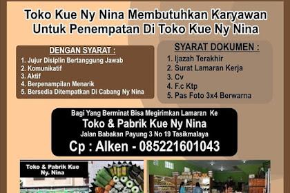 Lowongan Kerja Pabrik Kue Ny. Nina Tasikmalaya