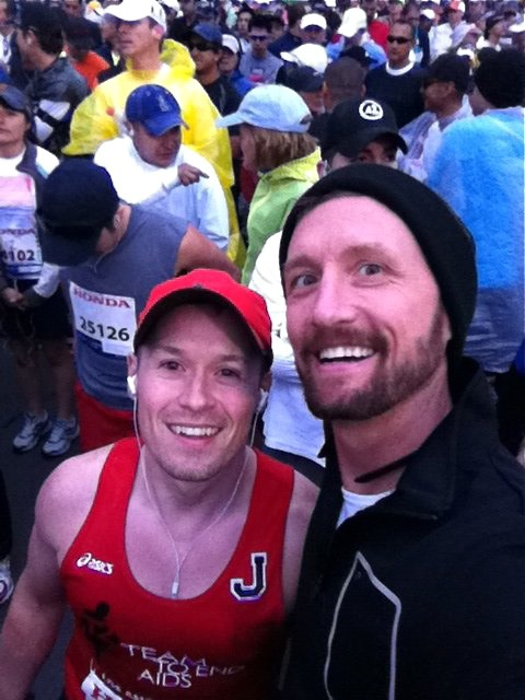 Jason and Rob before LA Marathon