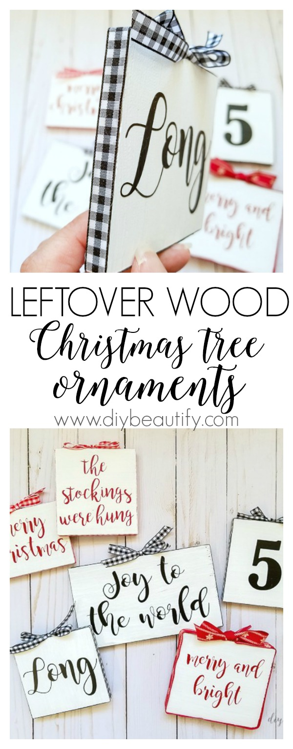 thrifty farmhouse sign ornaments