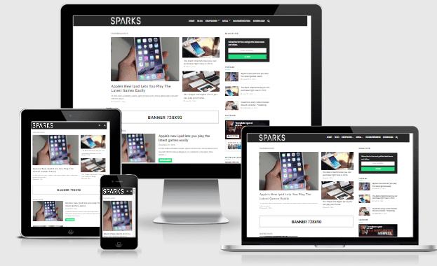 Sparks Blogger template responsive