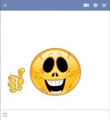 Facebook Skeleton Smiley