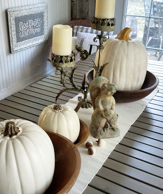 Fall Sunporch Decorating- Itsy Bits And Pieces-Wayfair #sponsored