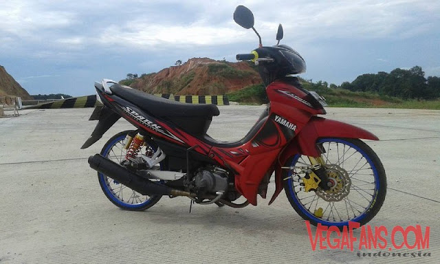 Modifikasi Jupiter Z Merah Hitam Modif Simple