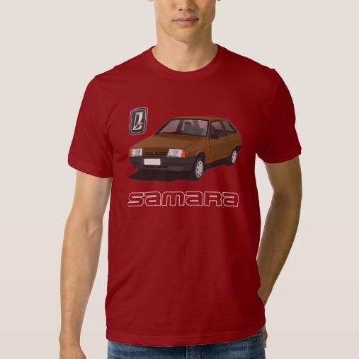 Russian VAZ-2109 Lada Samara Sputnik tshirts