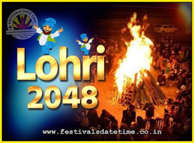 2048 Lohri Festival Date & Time, 2048 Lohri Calendar