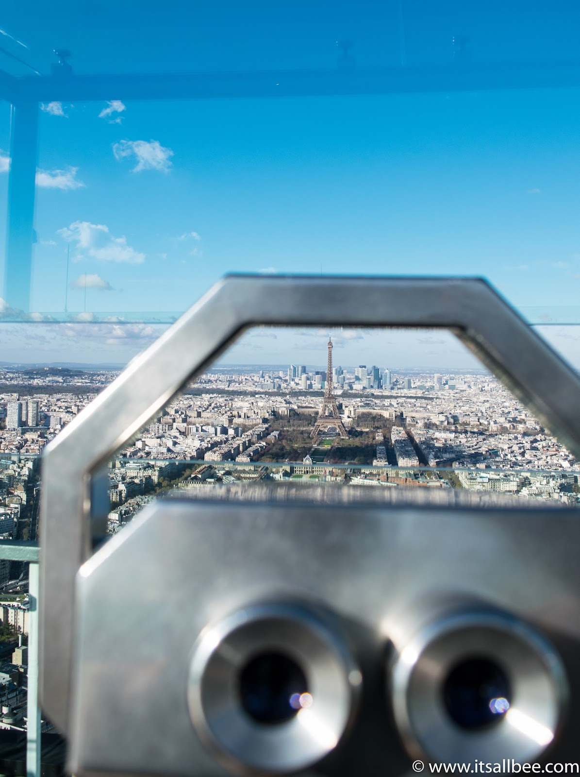 See Paris from above Monteparnes Tower - Photo by Bianca - www.itsallbee.com
