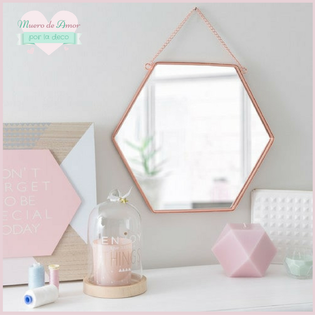Decoracion en color cobre-Espejo