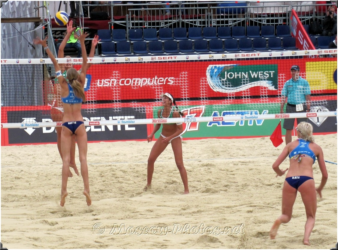 Defensive Play Of Russian Beach Volleyball Team