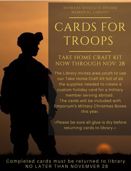 11-28 Barbara Moscato Library Cards For The Troops