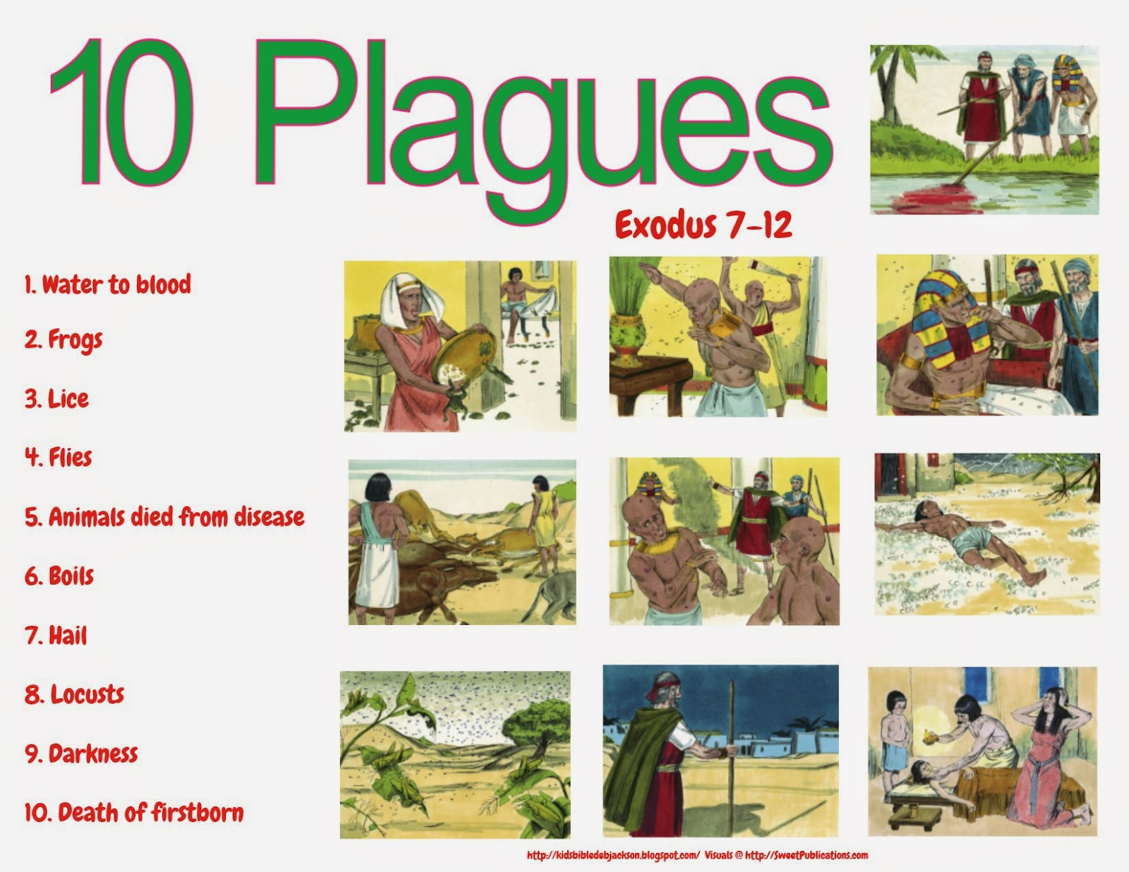 Bible Fun For Kids Moses Burning Bush Amp 10 Plagues