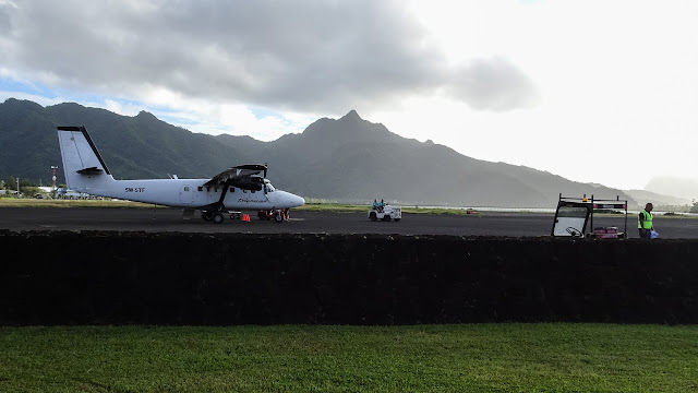 Great view from the airport over American-Samoa