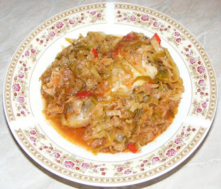 varza cu carne, varza calita, retete, retete culinare, retete de mancare, varza cu pui, mancaruri cu carne, retete cu pui, preparate din pui, bucataria romaneasca,