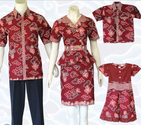 Baju Batik Seragam Keluarga Tanah Abang: 10 Model Baju Batik Keluarga Modern Terbaru 2020