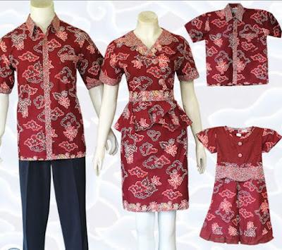 model baju batik keluarga untuk wisuda