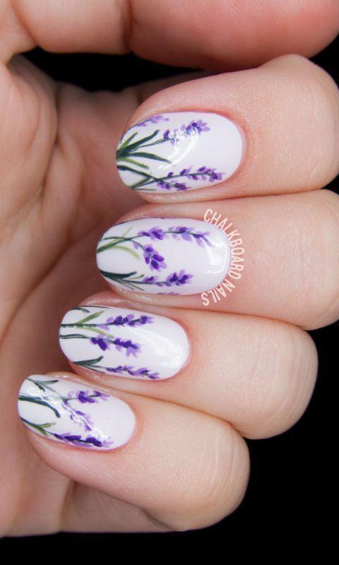 Lavender Manicure
