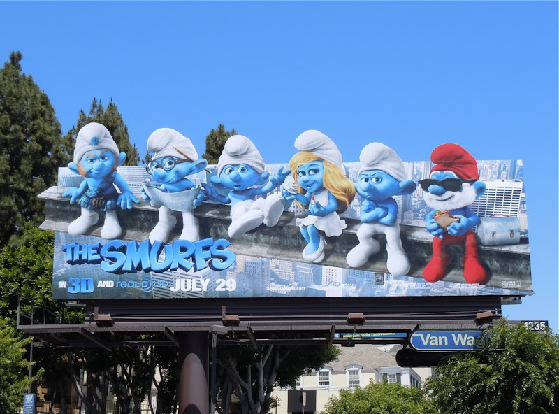 Smurfs steel beam billboard