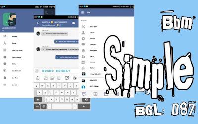 BBM Mod Simple V3.3.6.51 Terbaru Juli 2017