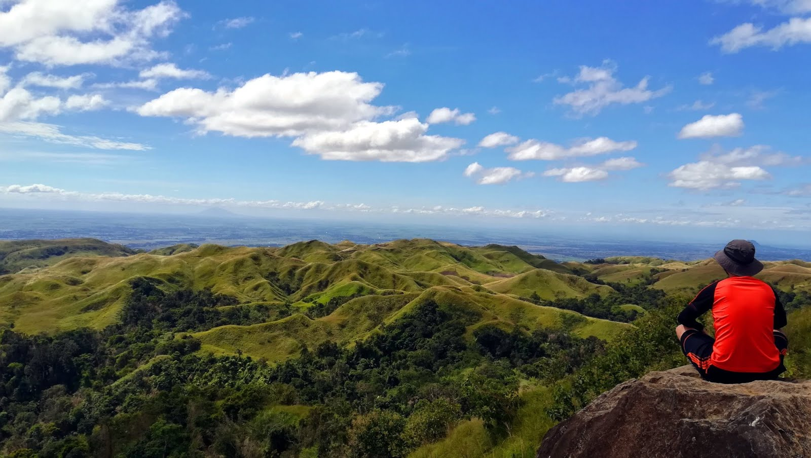 "At the summit of Mt. Batong Amat/387 overlooking the ""Chocolate Hills of"