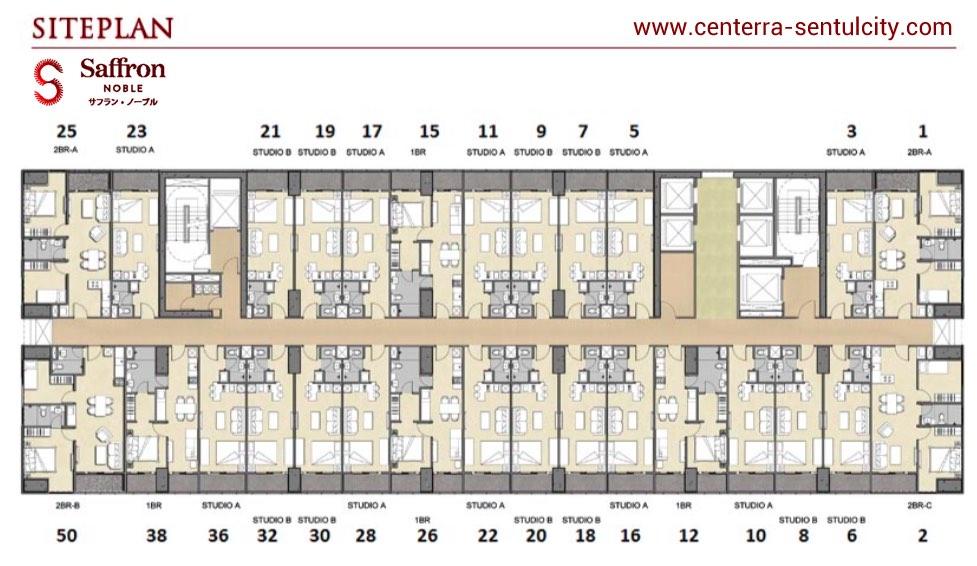 Site Plan Apartemen Saffron Noble Sentul City Bogor