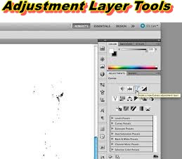 tool adjustment layer photoshop