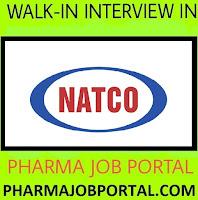 Natco Pharma Limited Recruitment For B.Pharm, M.Pharm, B.Sc, M.Sc, MBA - Apply Now