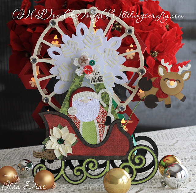 Santa's Flying Ferris Wheel | Interactive Christmas Decoration | SVGCuts Challenge Entry