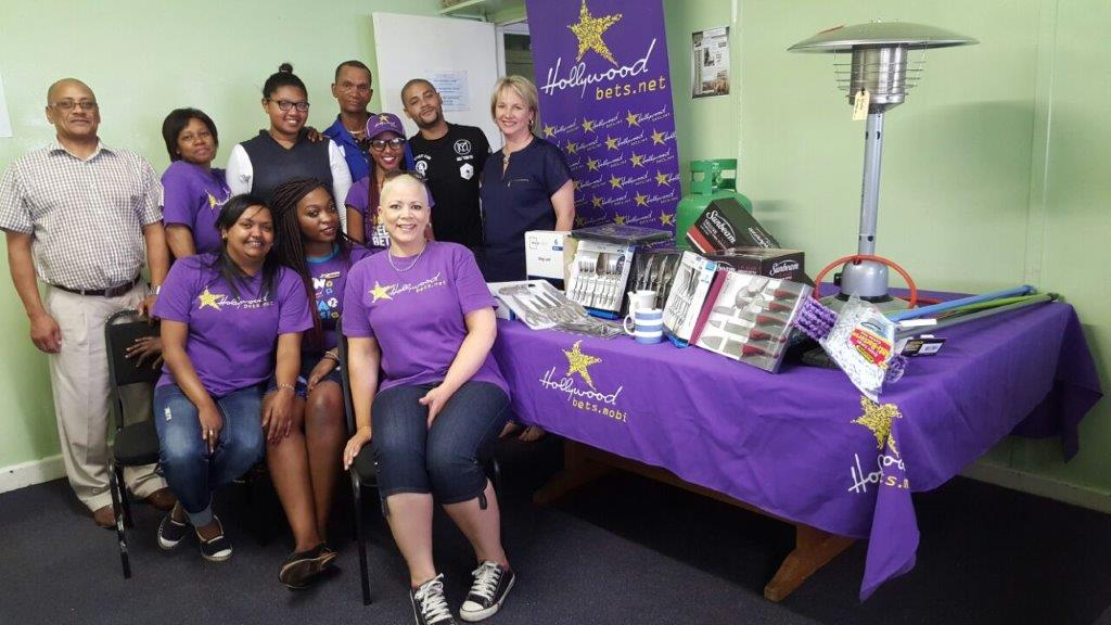 The Hollywoodbets Bellville team donated some much-needed kitchenware to Tygerberg Association for Street People