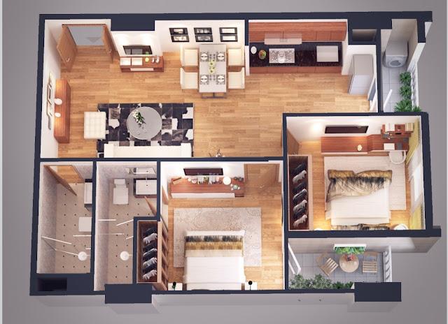 Thiết kế căn hộ 69m Athena Complex
