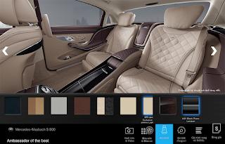 Nội thất Mercedes Maybach S600 2015 màu Vàng Silk (975)