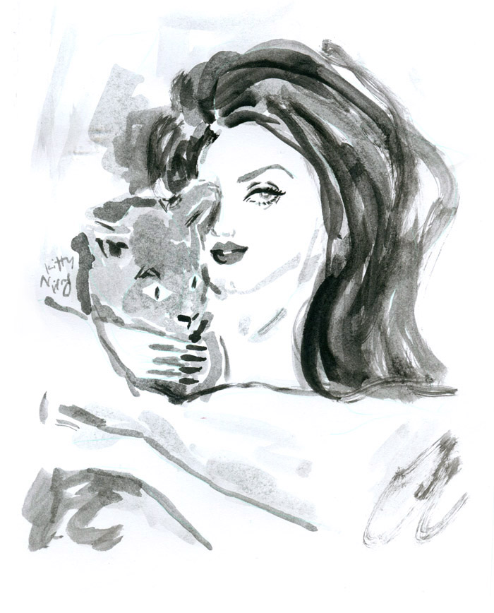 Kitty N. Wong / Lana Del Rey with cat