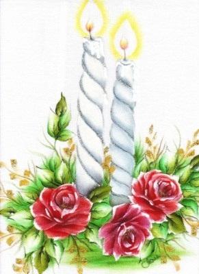 pintura em tecido pano de prato natal