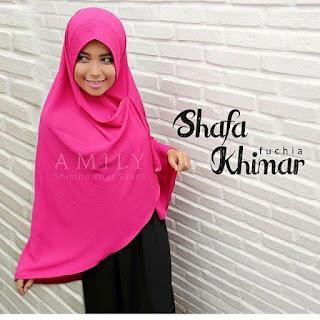 Hijab Amily Khimar Shafa Fuchia